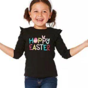 Kids Happy Easter Cotton Long Sleeve Tee Shirt